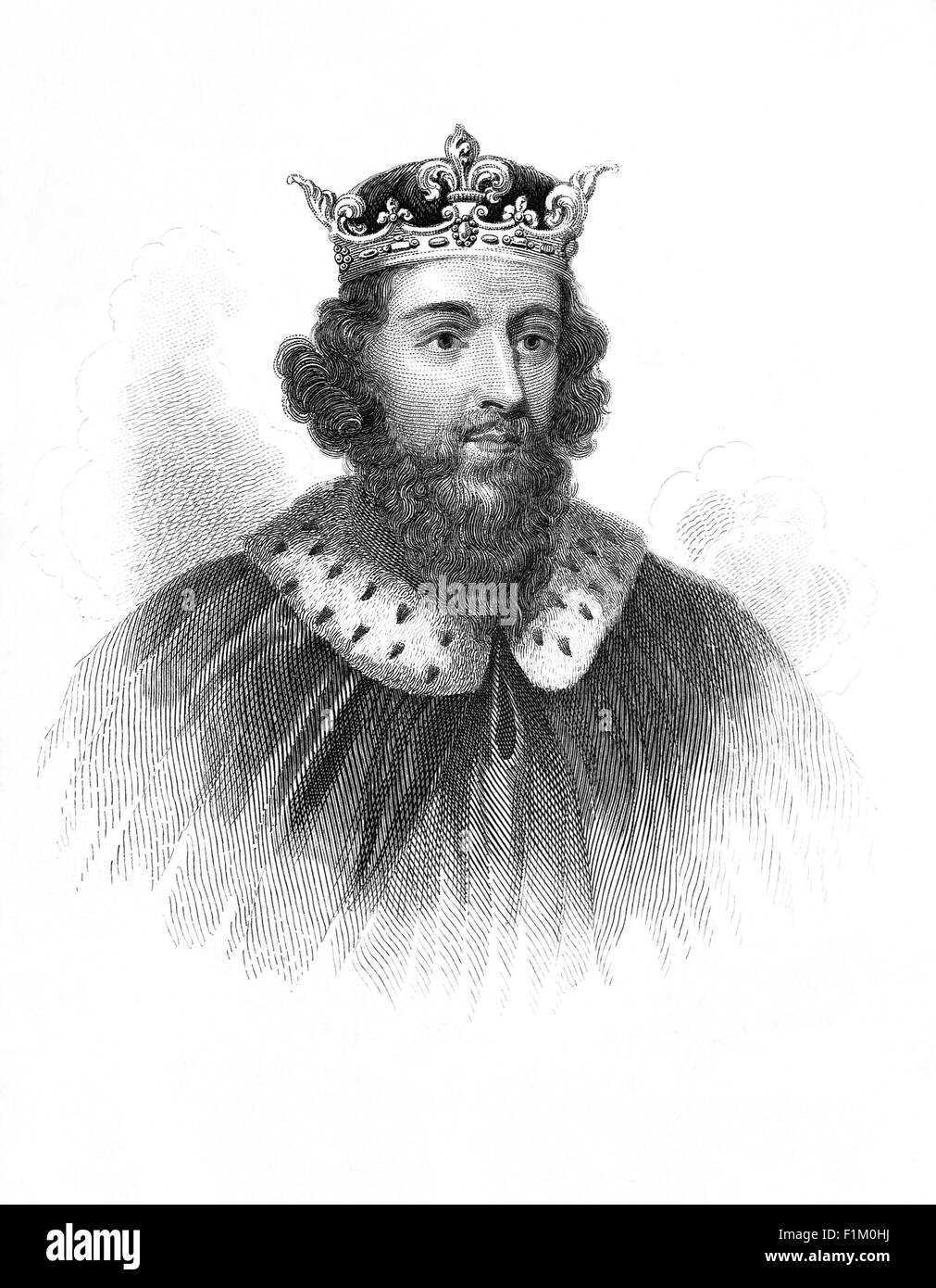 King Alfred (849 – 899 AD) also known as Alfred the Great, considered to be the first King of England. Crowned in - Stock Image