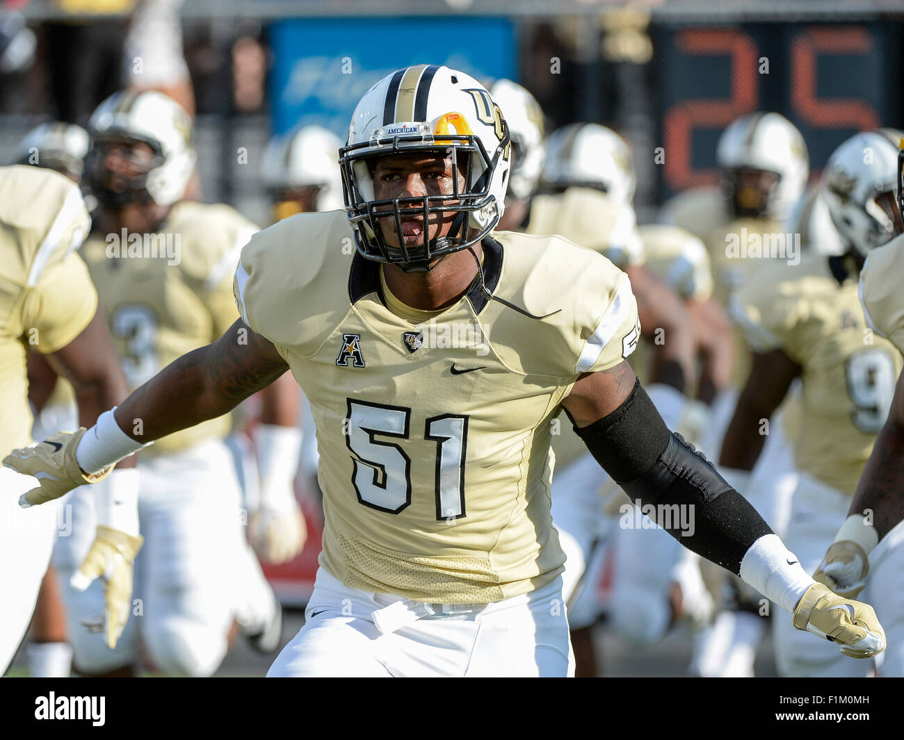 orlando, fl, usa. 3rd sep, 2015. ucf knights linebacker errol clarke