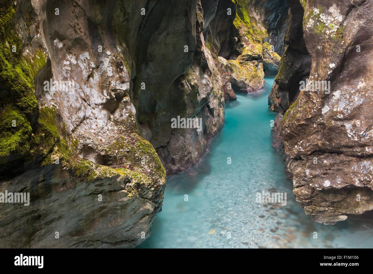 The Tolmin gorges, Triglav National Park, Slovenia Stock Photo