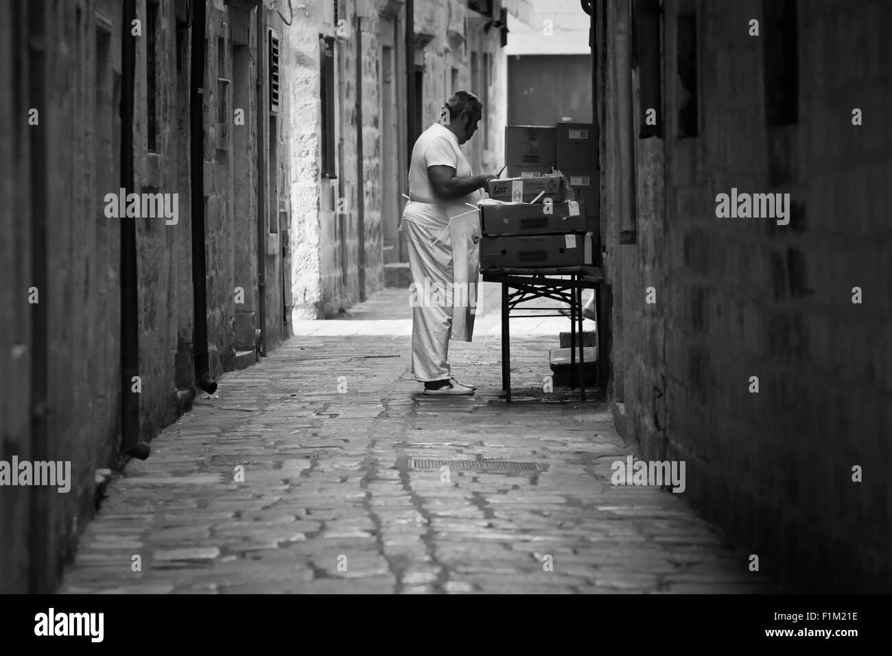 Cook masterchef, Dubrovnik, Croatia - Stock Image