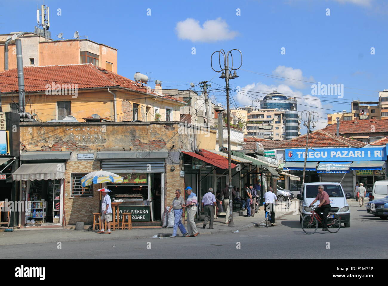 Sheshi Avni Rustemi, Tirana, Albania, Balkans, Europe Stock Photo