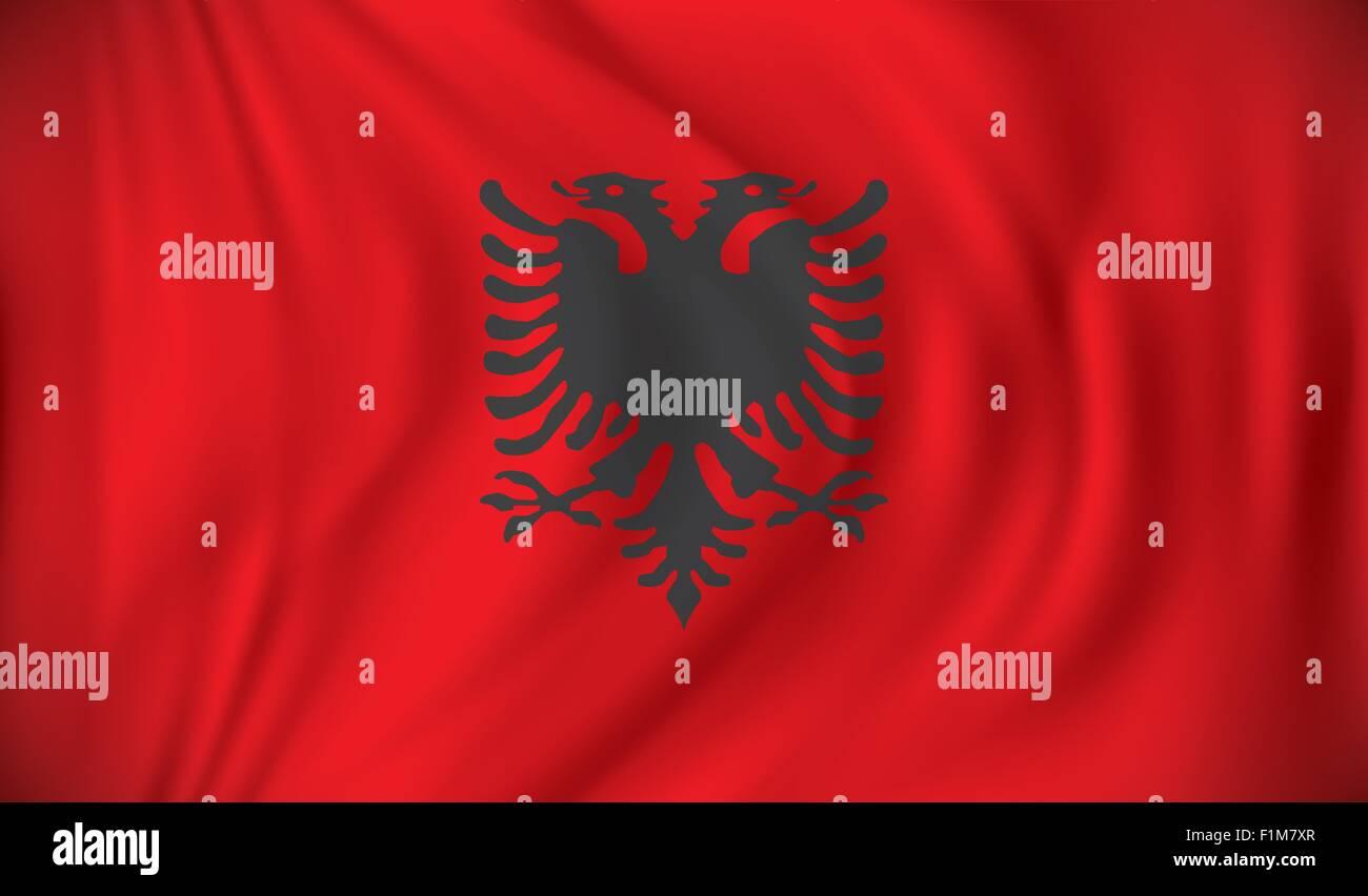 Flag of Albania - vector illustration - Stock Vector