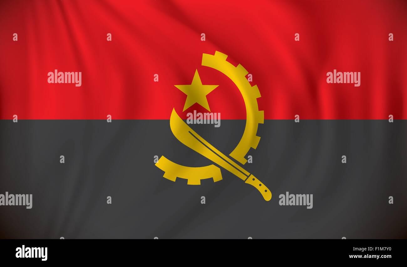 Flag of Angola - vector illustration Stock Vector