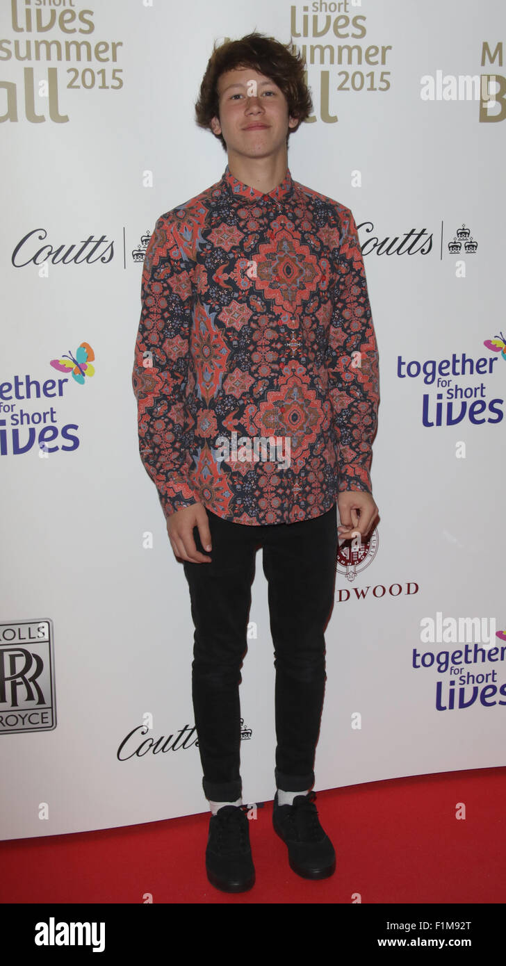 London, UK, 3rd June 2015: Isaac Waddington attends the Together for Short Lives Midsummer Ball at Banqueting House - Stock Image