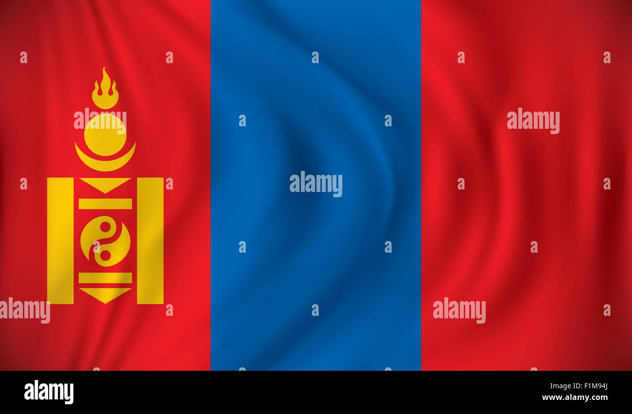 Flag of Mongolia - vector illustration - Stock Vector
