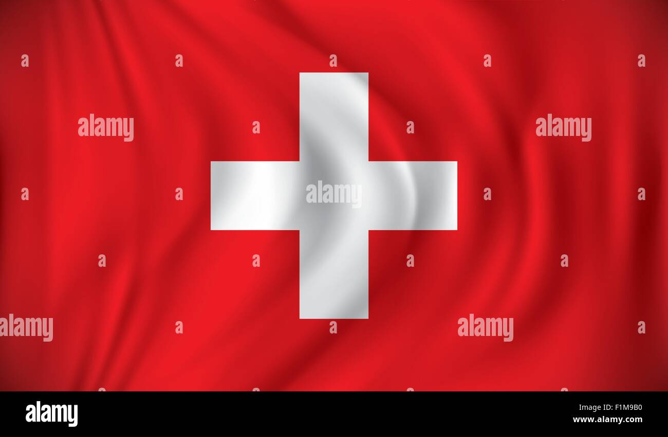 Flag of Switzerland - vector illustration - Stock Vector