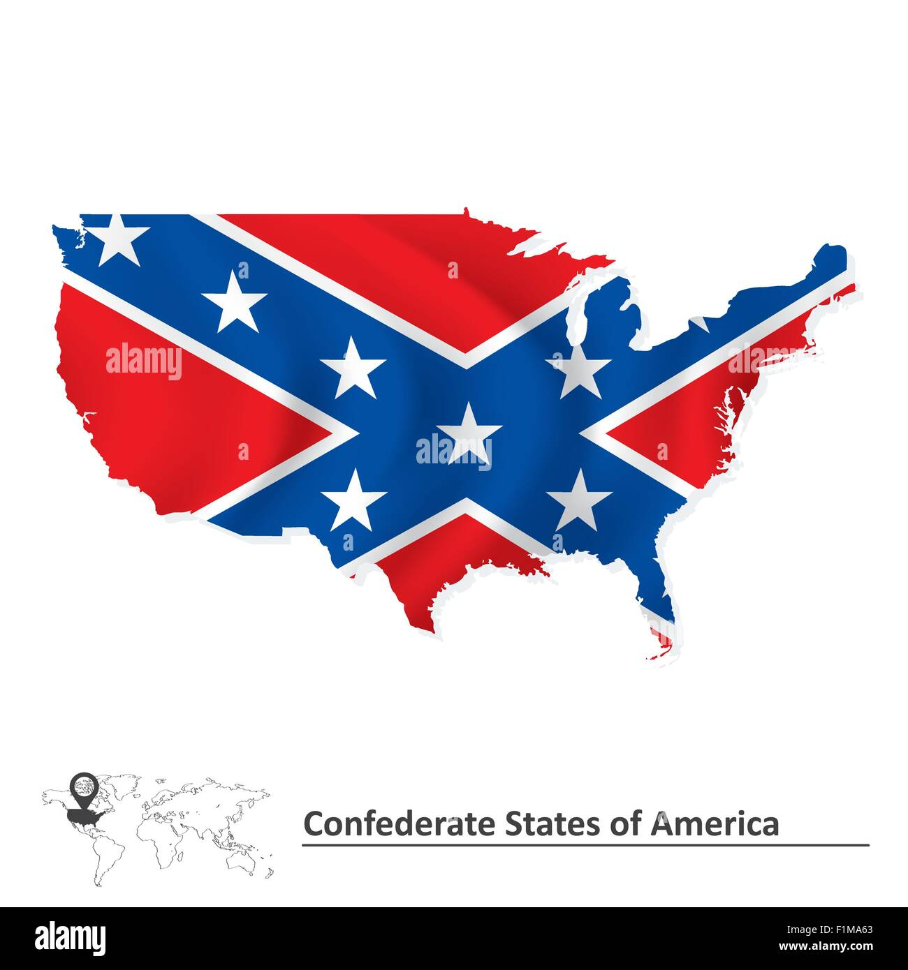Confederate States Map Stock Photos & Confederate States Map Stock ...