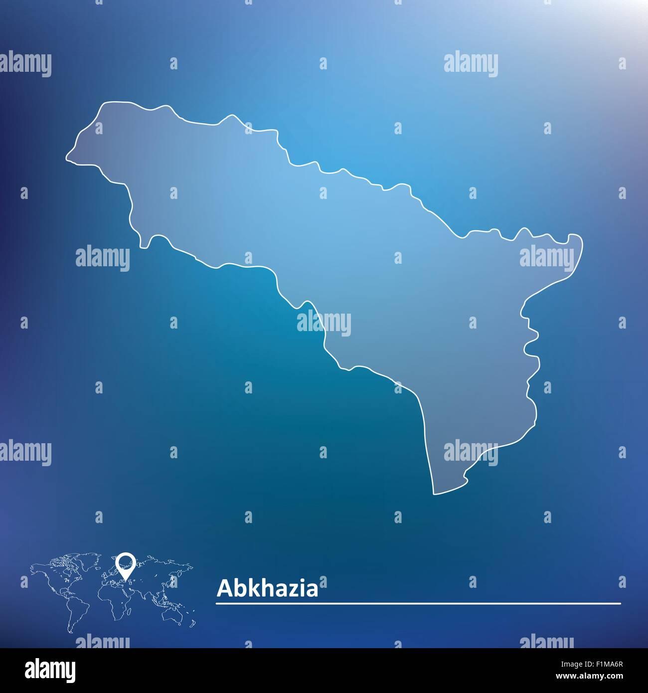 Map of Abkhazia - vector illustration - Stock Vector