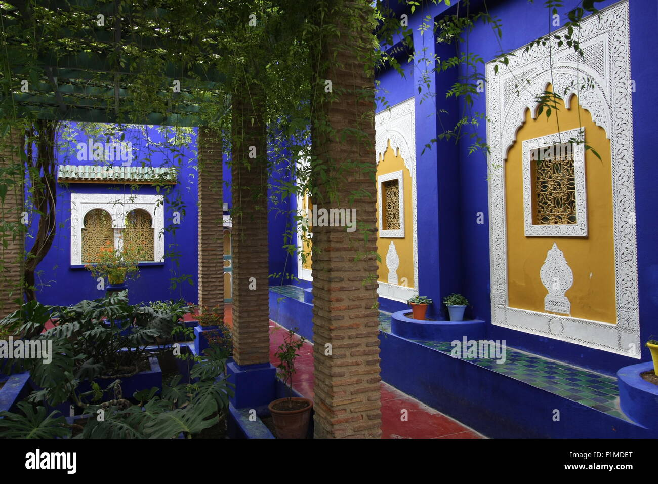 The Blue House In The Jardin Majorelle Marrakesh Morocco Africa