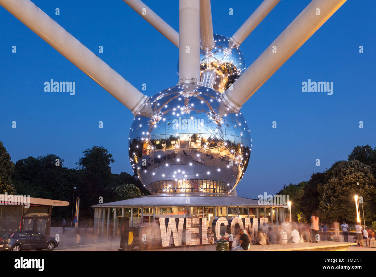 The Atomium in Brussels, Belgium - Stock Image