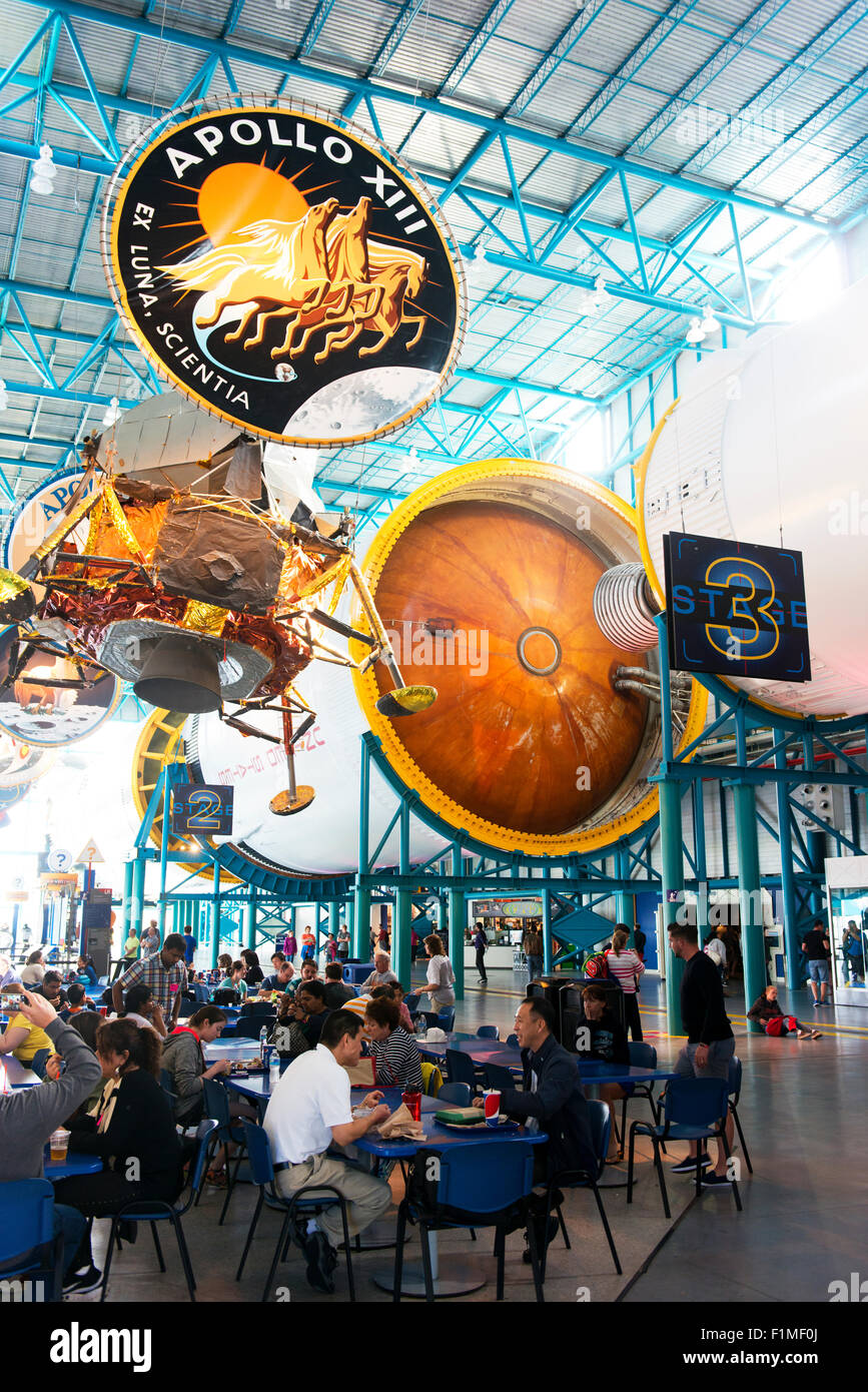 The Apollo/Saturn V Center at the Kennedy Space Center, Florida. - Stock Image