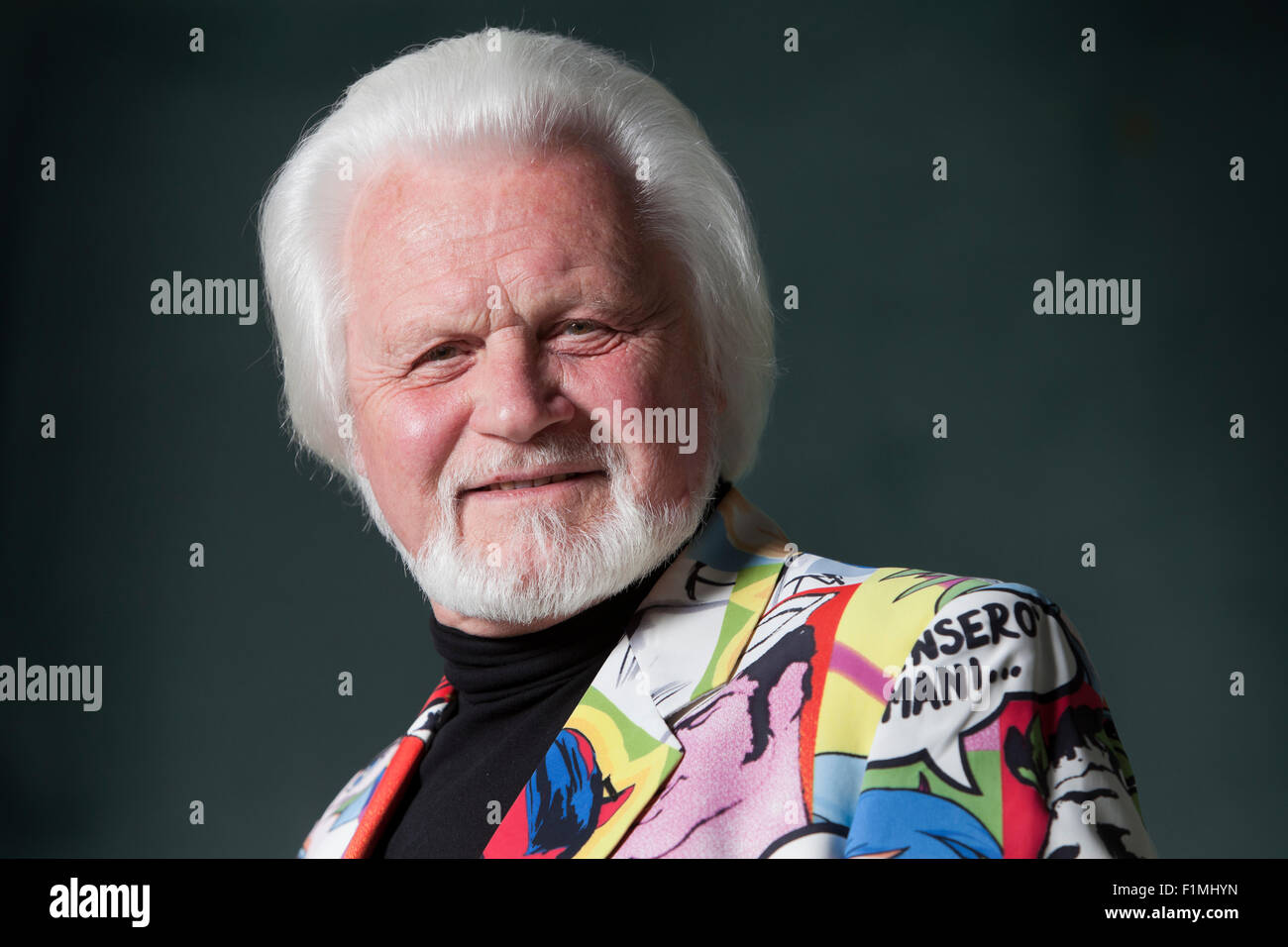 Ronnie Browne, the Scottish folk musician and founding member of The Corries, at the Edinburgh International Book - Stock Image