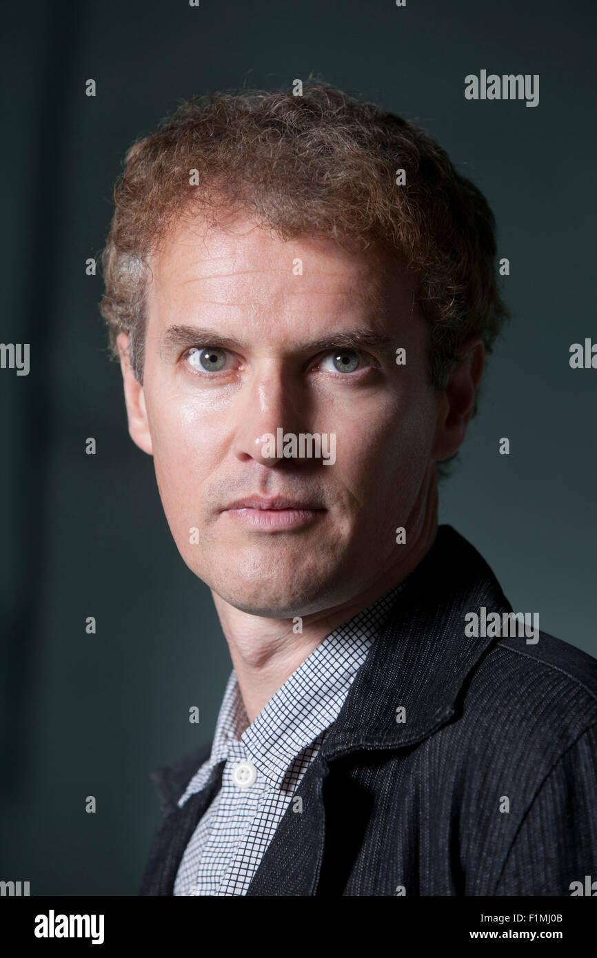 Colin MacIntyre, the Scottish singer, song-writer, aka Mull Historical Society, at the Edinburgh International Book - Stock Image