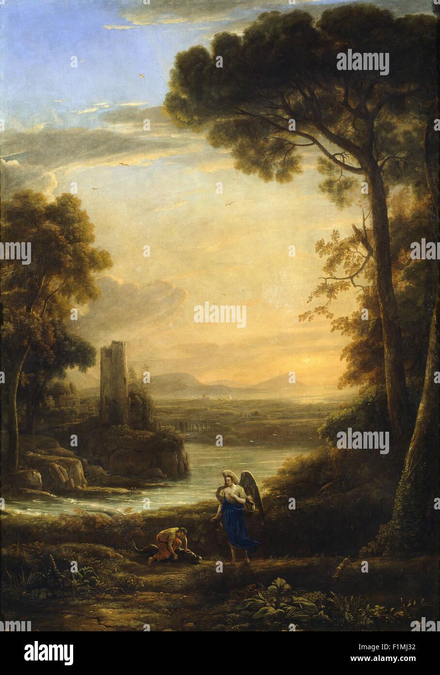 Claude Lorrain (Claude Gellée) - The Archangel Raphael and Tobias - Stock Image