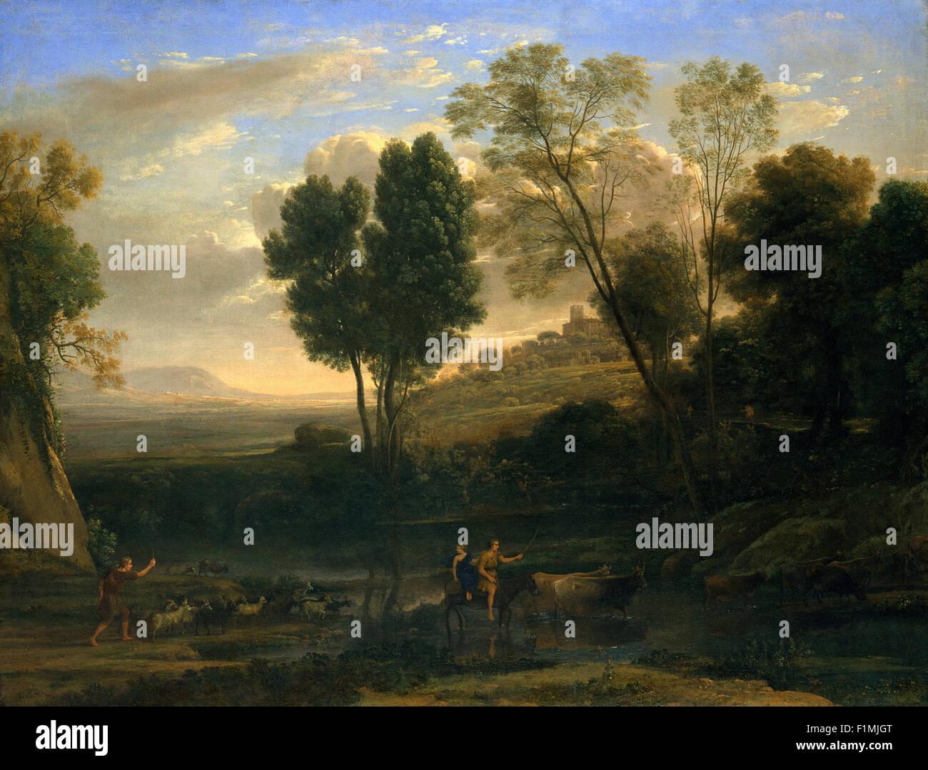 Claude Lorrain (Claude Gellée) - Sunrise - Stock Image