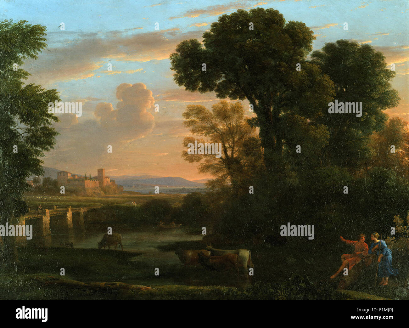 Claude Lorrain (Claude Gellée) - Pastoral Landscape - Stock Image