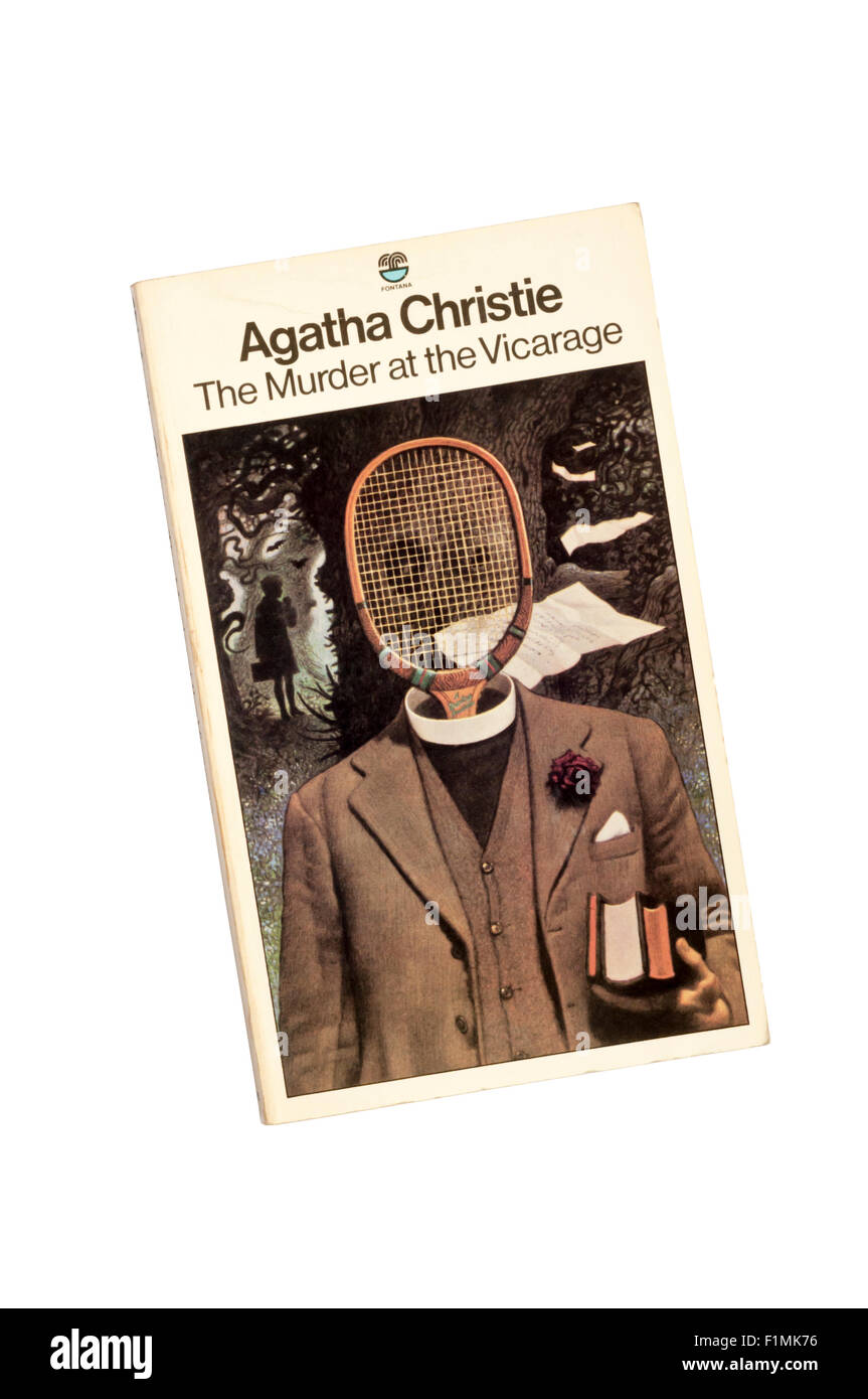 Collins paperback edition of The Murder at the Vicarage by Agatha Christie.  First published in 1930. - Stock Image