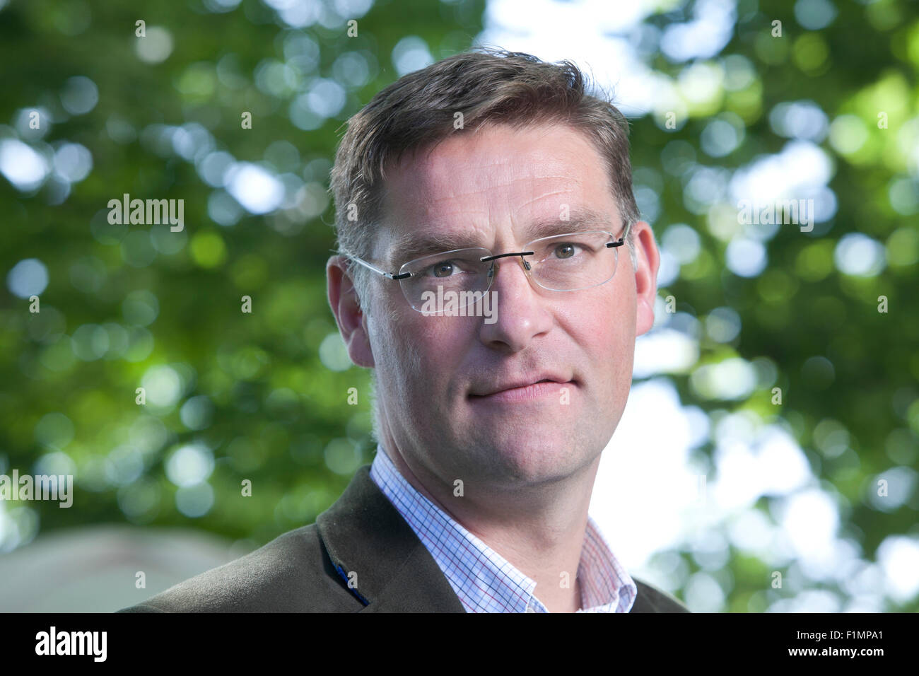 Magnus MacFarlane-Barrow, founder and CEO of Mary's Meals, at the Edinburgh International Book Festival 2015. - Stock Image