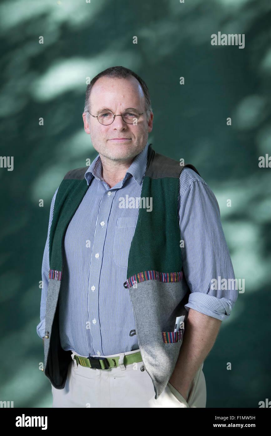 Andy Wightman, the writer and researcher, at the Edinburgh International Book Festival 2015. Edinburgh, Scotland. - Stock Image