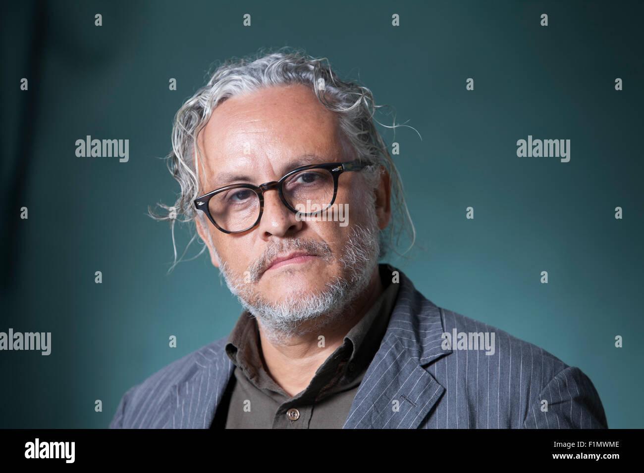 Gabriel Orozco, the Mexican artist, at the Edinburgh International Book Festival 2015. Edinburgh, Scotland. 17th - Stock Image