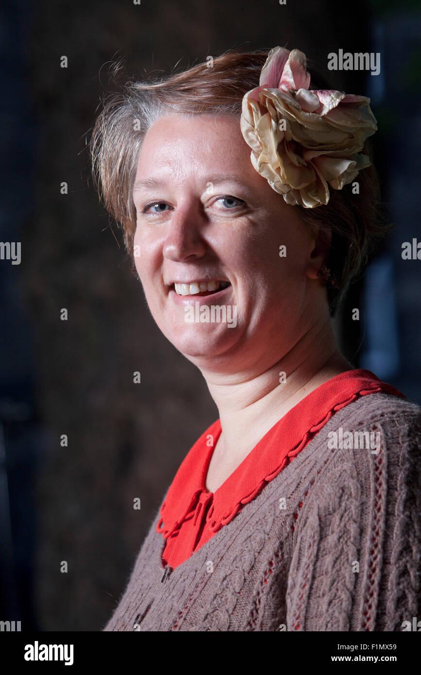 Claire Fuller, the English author, at the Edinburgh International Book Festival 2015. Edinburgh, Scotland. 17th - Stock Image