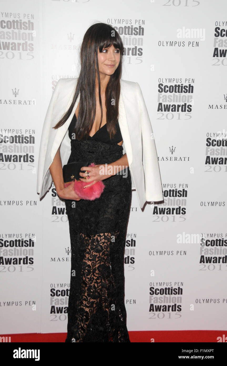 London, UK, 3 September 2015, Lilah Parsons attends Scottish Fashion Awards 2015 at Corinthia Hotel in the West - Stock Image