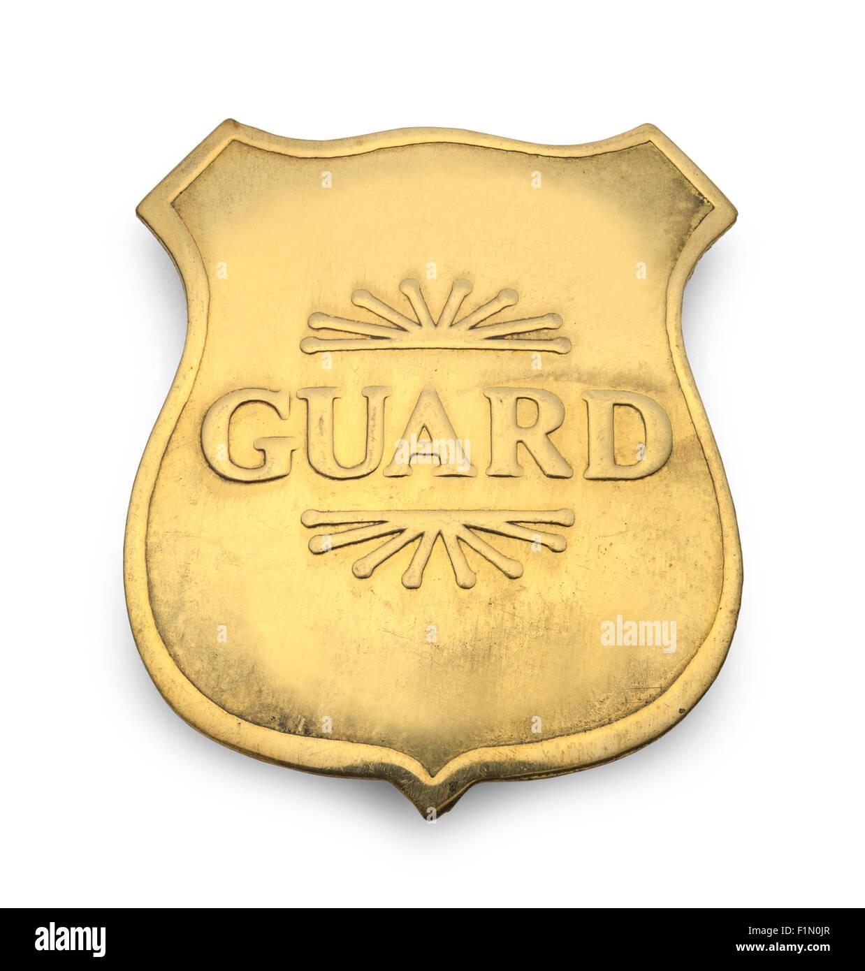 Old Guard Badge Isolated on White Background. - Stock Image