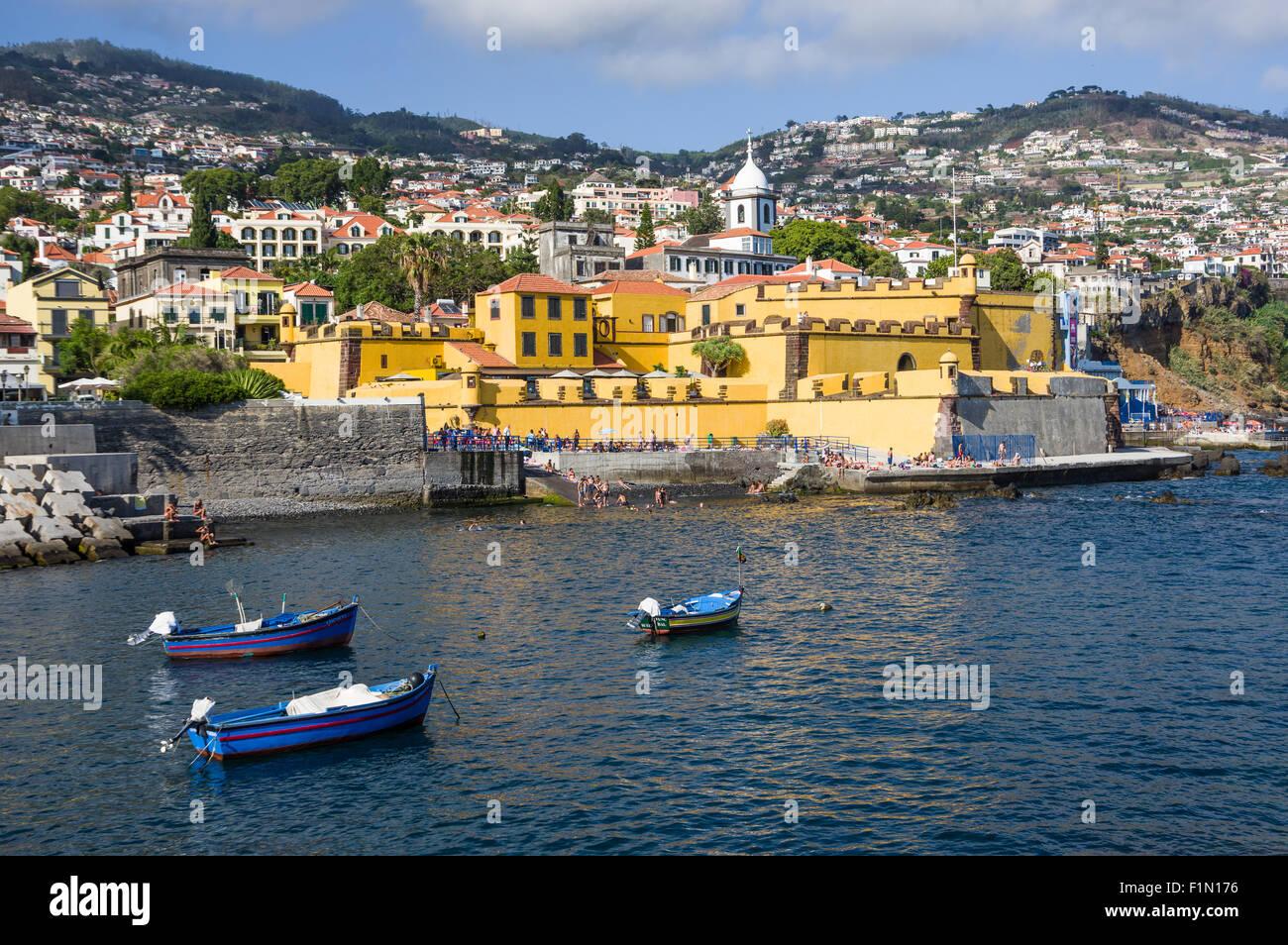 Sao Tiago Fort - Funchal - Madeira - Stock Image