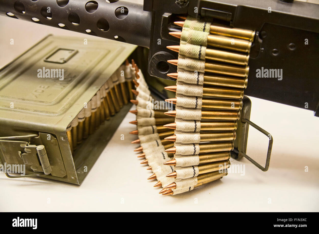 Browning M1919 Medium Duty Machine Gun With A Ammo Can Of