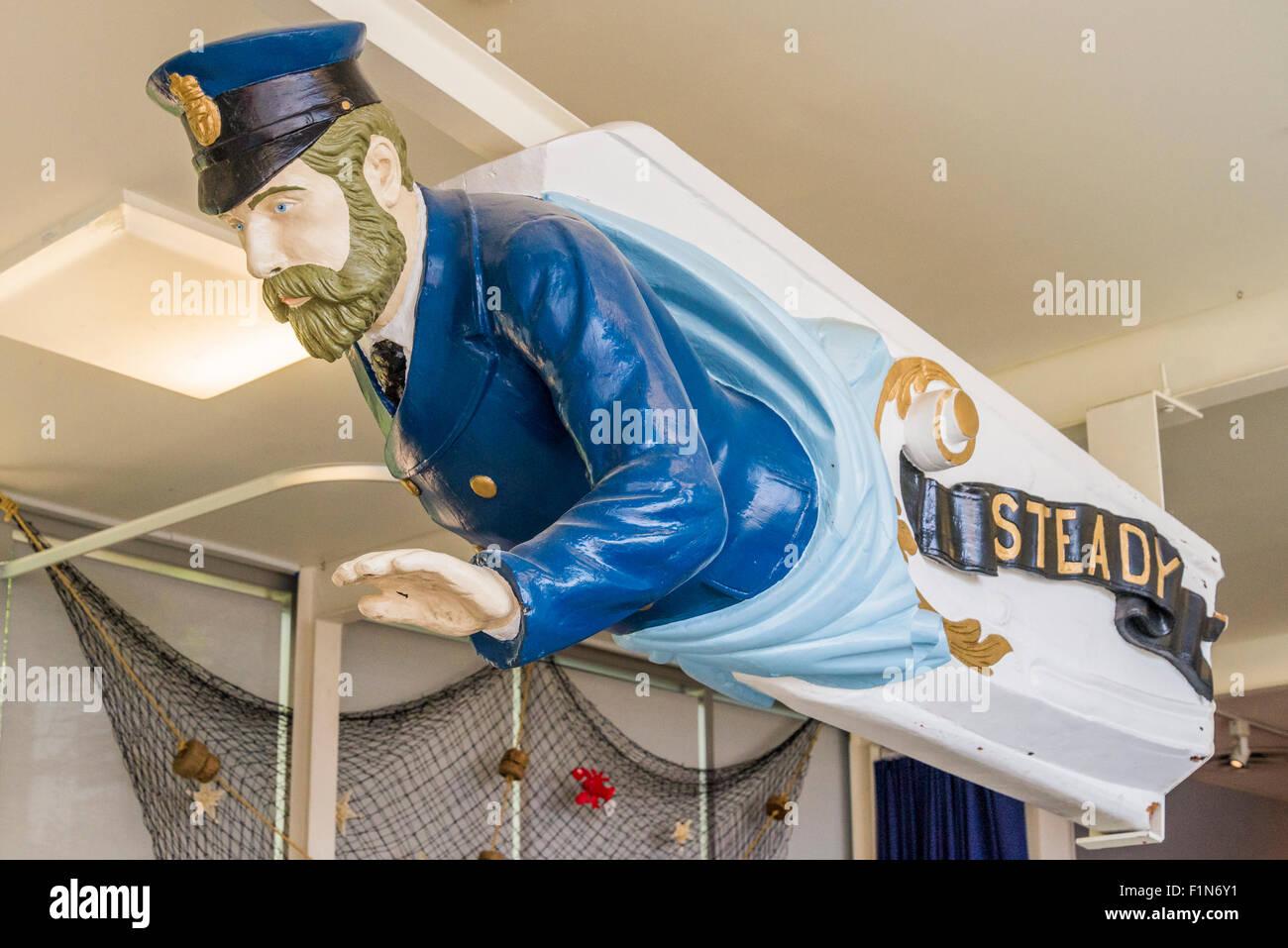 Ship's figurehead, Steady, the Maritime Museum, Vancouver, British Columbia, Canada - Stock Image