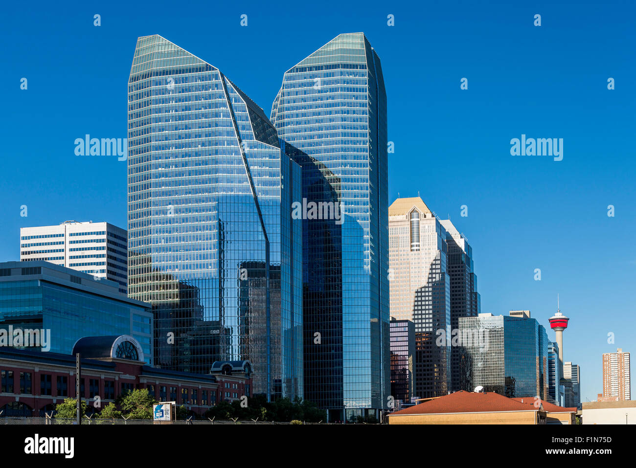 Eighth Avenue Place, one of the first LEED Platinum Office complexes in Canada, Calgary, Alberta, Canada - Stock Image