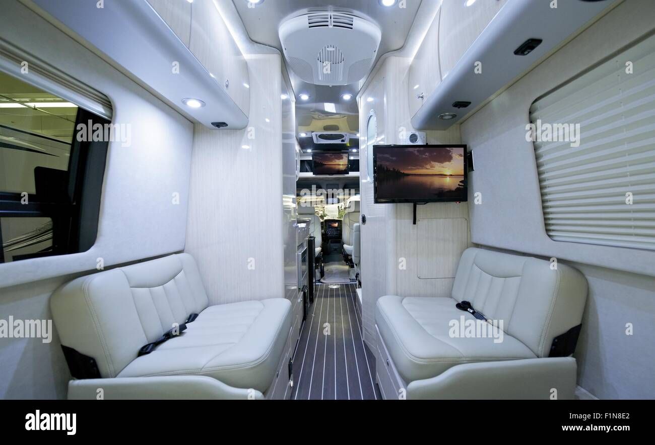 Luxury Class B Motorhome Elegant And Modern Light RV Interior Recreational Vehicle