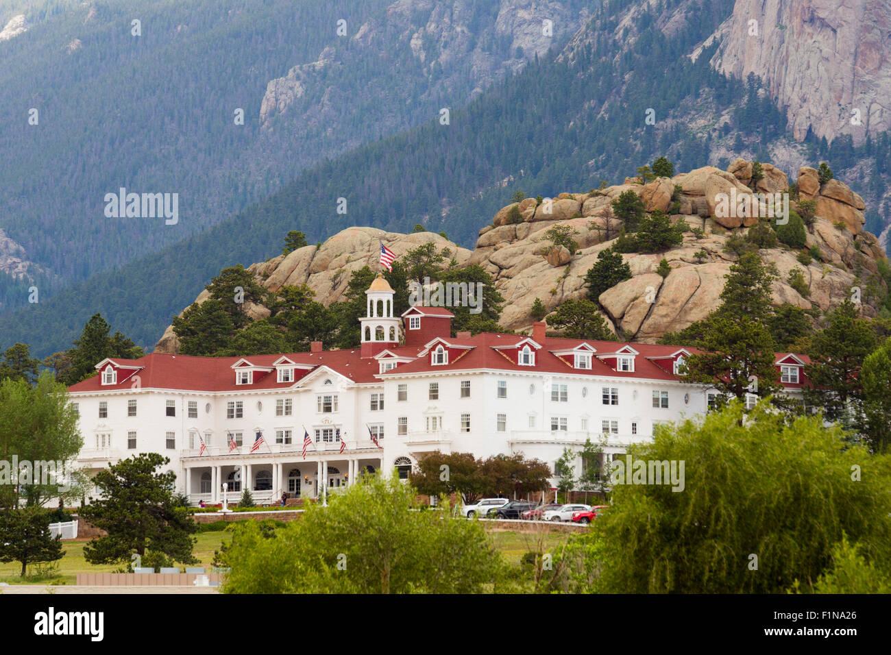 Estes Park, Colorado - The Stanley Hotel. - Stock Image