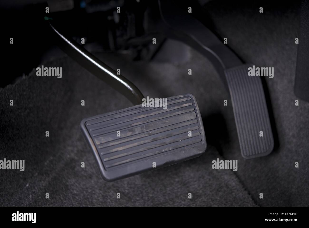 Automatic Transmission Car Pedals Closeup Gas And Break Pedals Stock Image