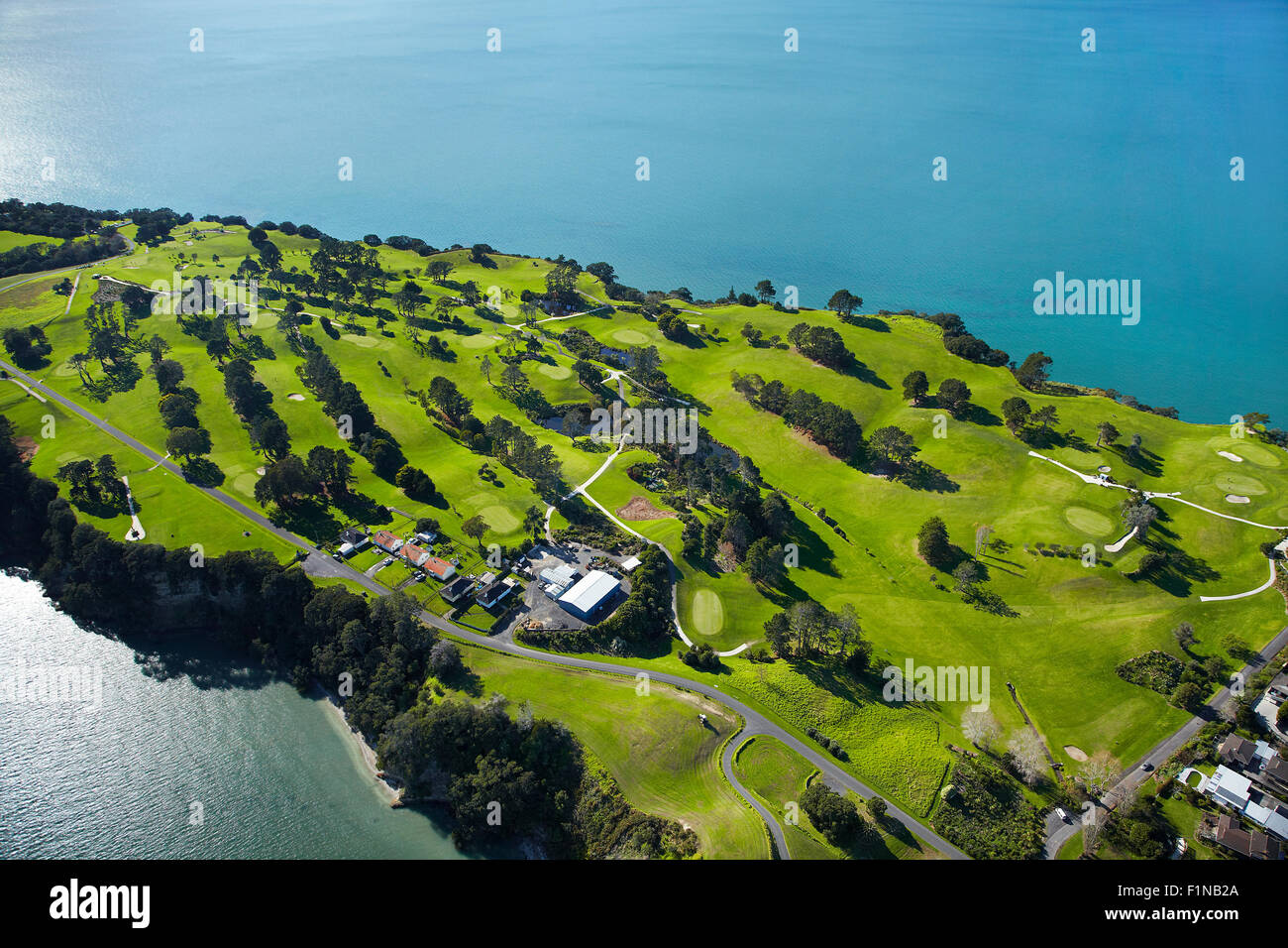 Howick Golf Course, Auckland, North Island, New Zealand - aerial - Stock Image