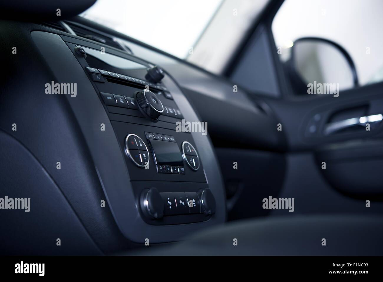 Modern Car Dashboard And Interior From Different Angle Studio Stock Photo Alamy