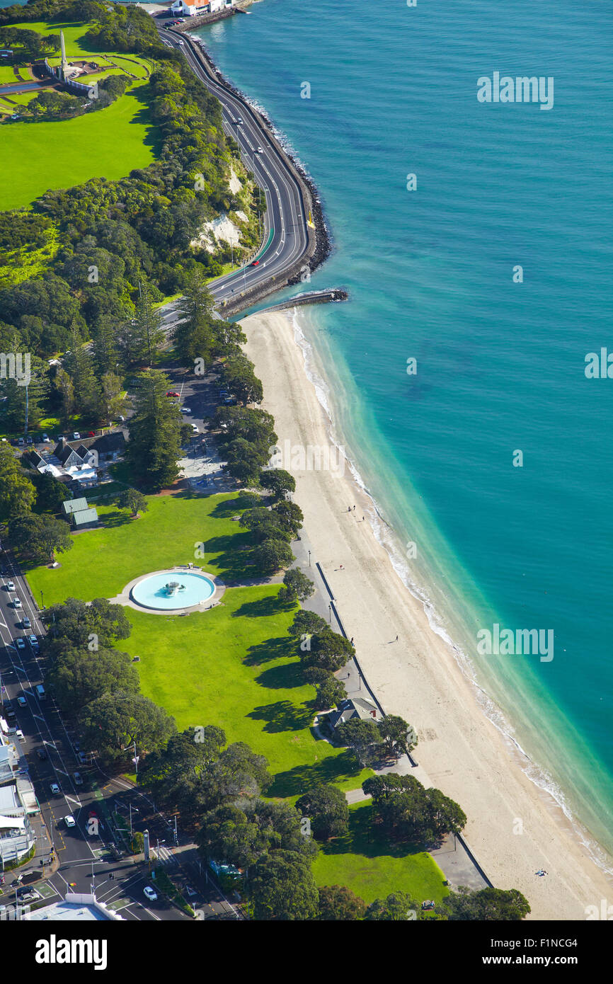 Mission Bay, Auckland, North Island, New Zealand - aerial - Stock Image