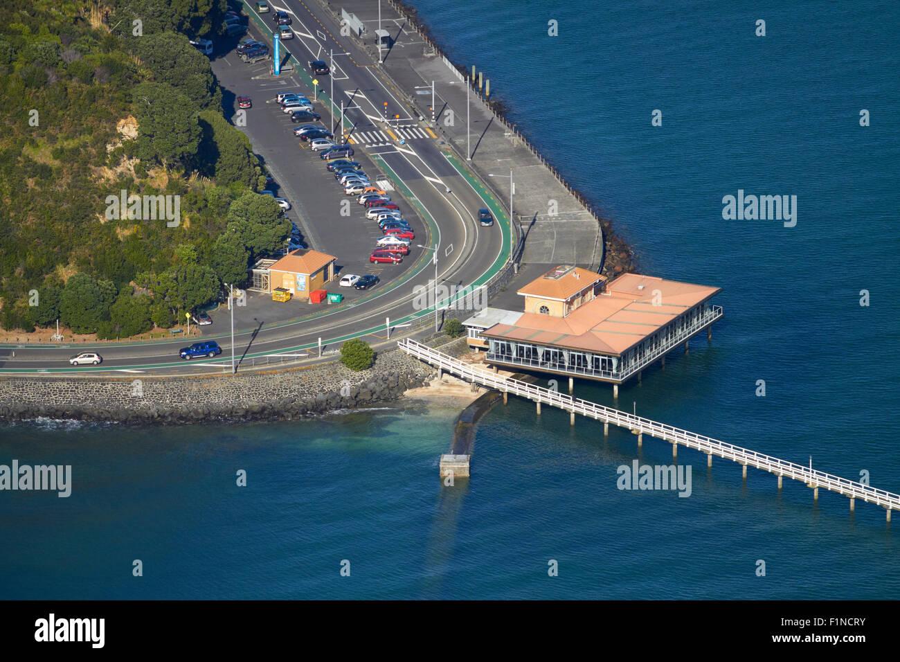 Orakei Wharf, Auckland, North Island, New Zealand - aerial - Stock Image