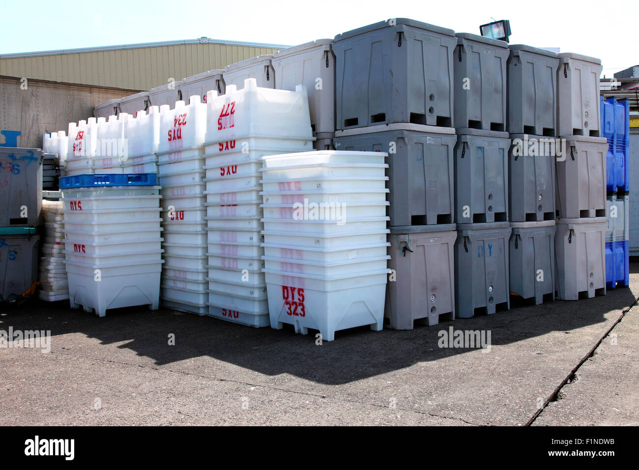 large plastic totes. Large Plastic Totes For The Fisheries Industry, Astoria Oregon. G