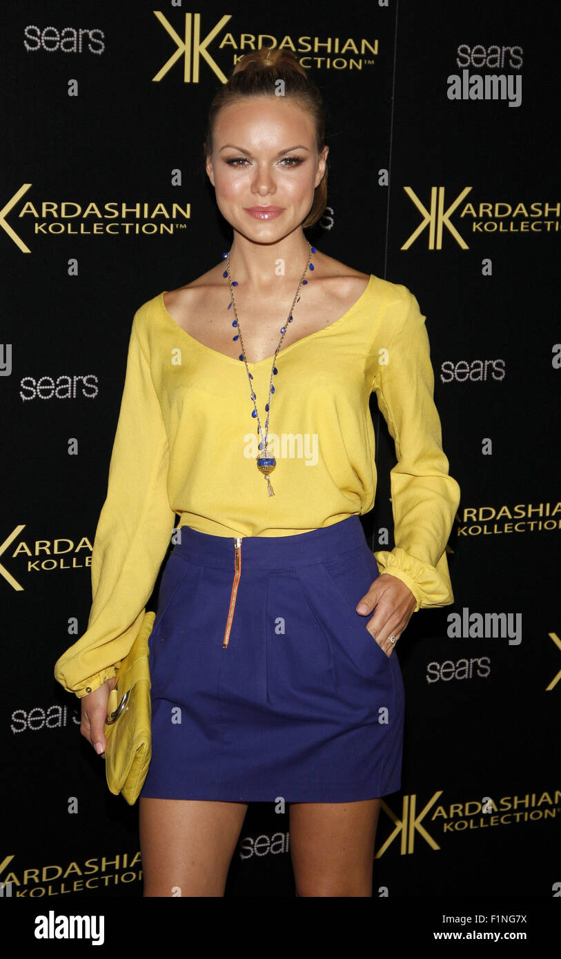 HOLLYWOOD, CA - AUGUST 17, 2011: Anya Monzikova at the Kardashian Kollection Launch Party held at the Colony in - Stock Image