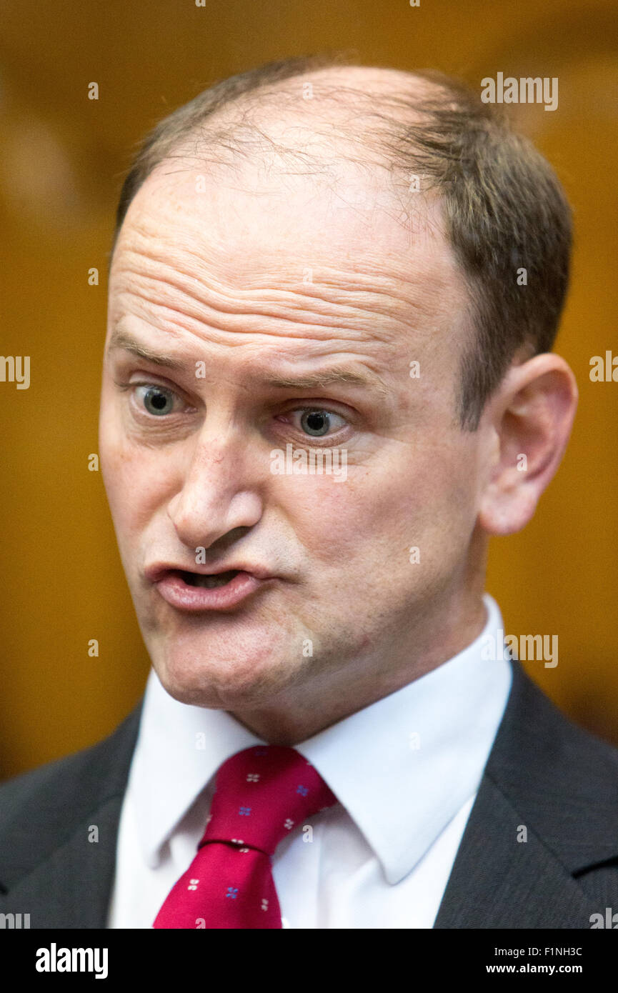 Douglas Carswell,MP for Clacton on Sea,at the launch of UKIP's 'Say no to the EU' tour in Westminster - Stock Image