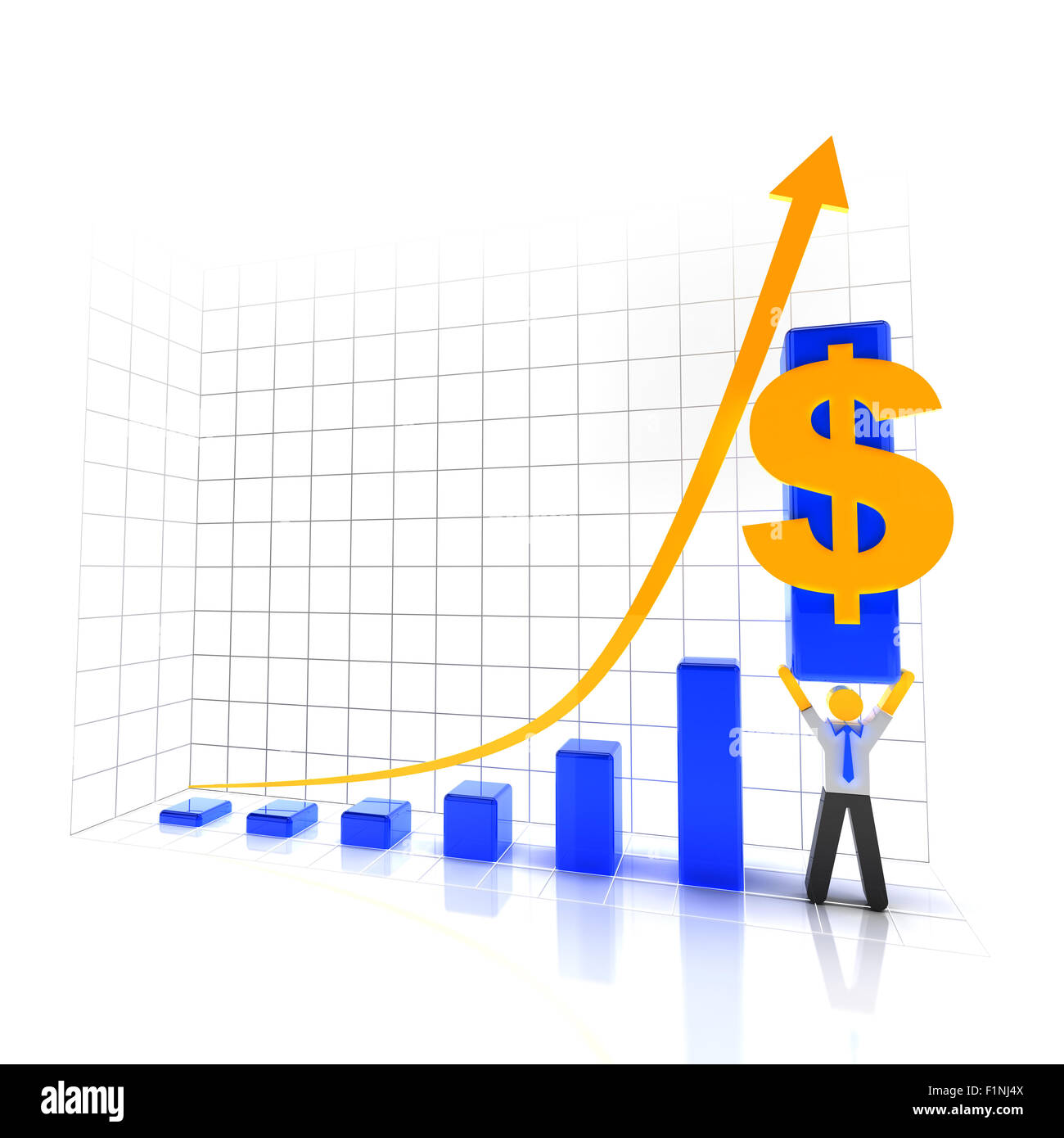 Making profit and success - Stock Image