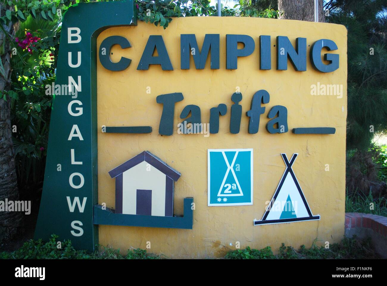 Camping Tarifa Campsite Sign Tarifa Costa De La Luz Cadiz Stock Photo Alamy