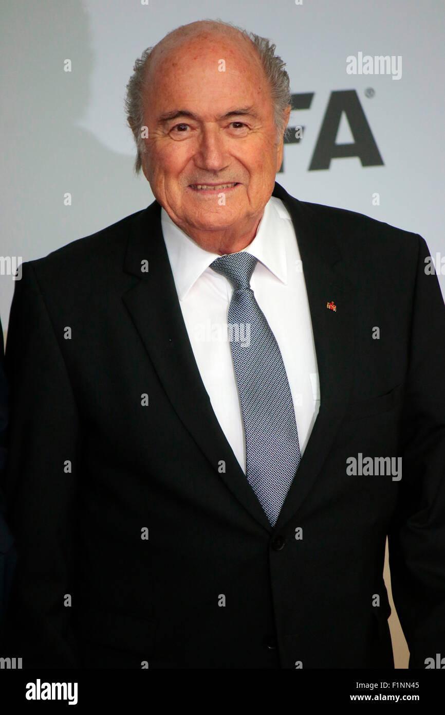 Sepp Blatter - Premiere des Films ueber den gewinn der Fussball Weltmeisterschaft 2014 'Die Mannschaft', - Stock Image