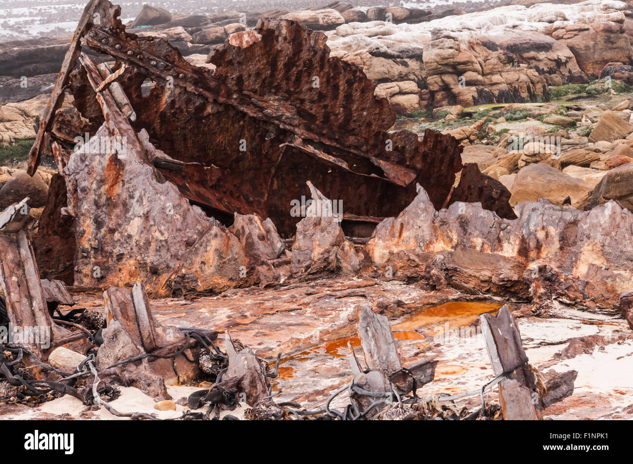 Ship Wreck at the Western Cape - Stock Image