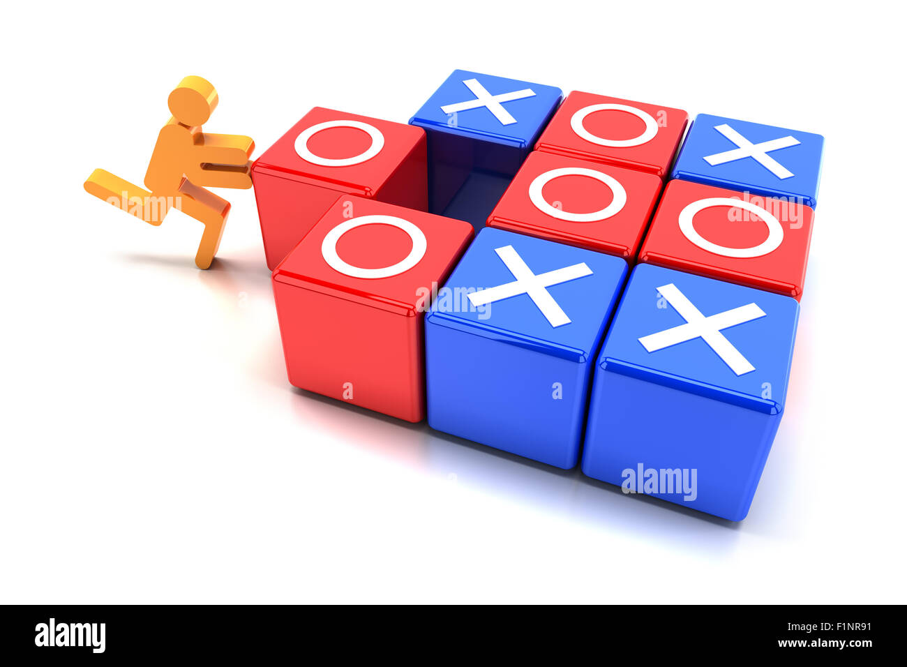 Tic tac toe game - Stock Image