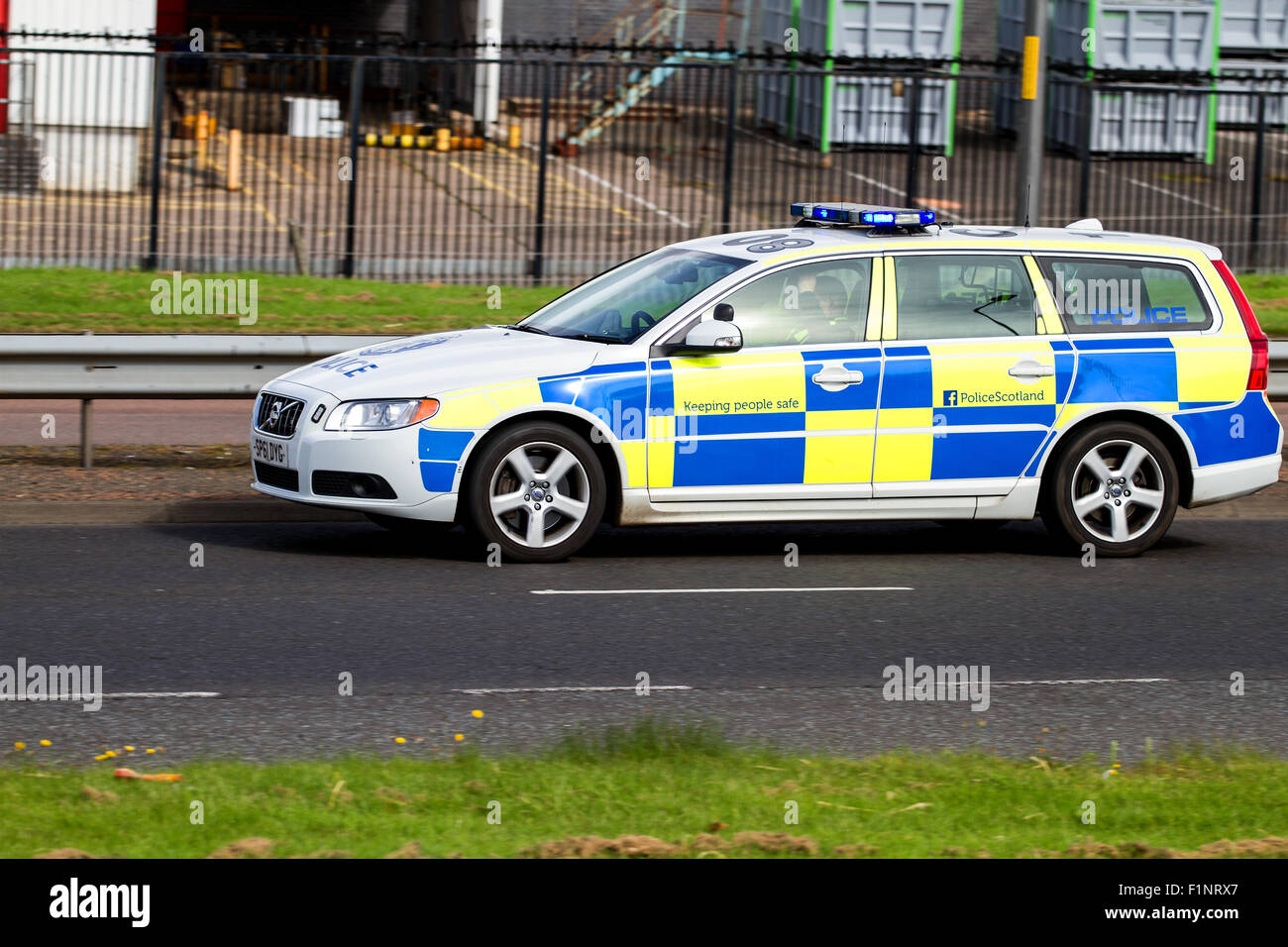 Dundee, Tayside, Scotland, UK, 5th September 2015. Road accident in Dundee. Police Scotland and Scottish Emergency Stock Photo