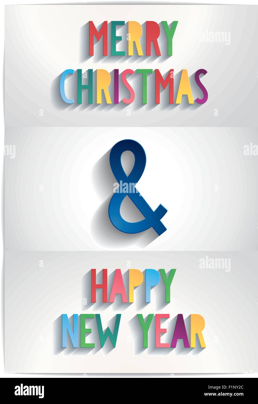 Merry Christmas And A Happy New Year Stock Vector Images - Alamy