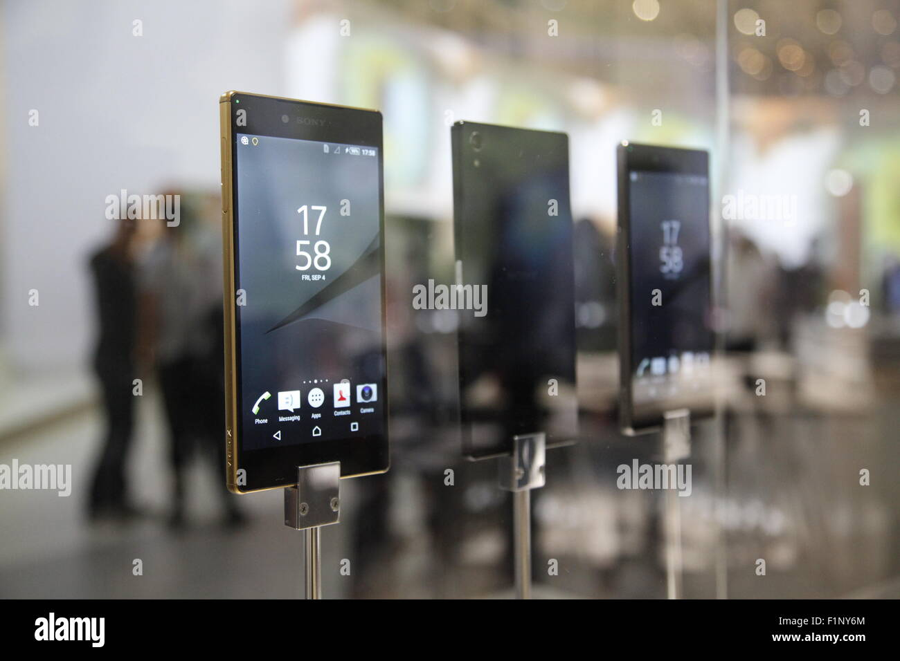 Berlin, Germany. 4th September, 2015. IFA 2015, Sony Smartphone Xperia Z5 Premium mit 4K Credit:  Stefan Papp/Alamy - Stock Image