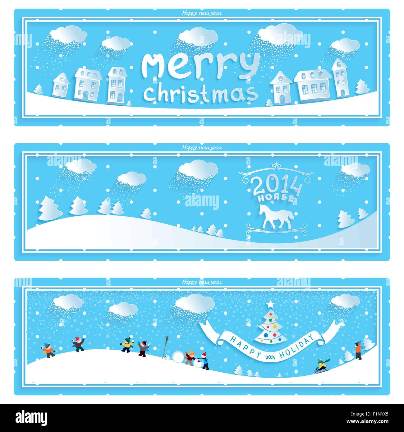 Winter Holiday Banners Confetti Banners